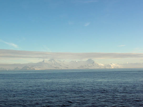 Deception Island from a distance