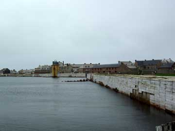 Waterfront fortifications at Fortress of Louisbourg