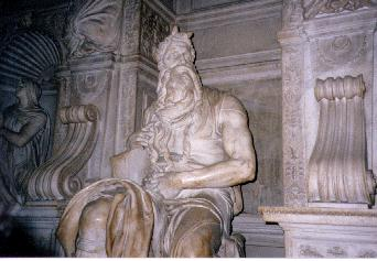 Michaelangelo's Moses located in St. Peter in Chains