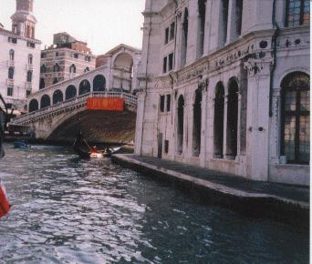 Approaching the Rialto Bridge - Venice