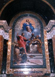 Painting in Church interior